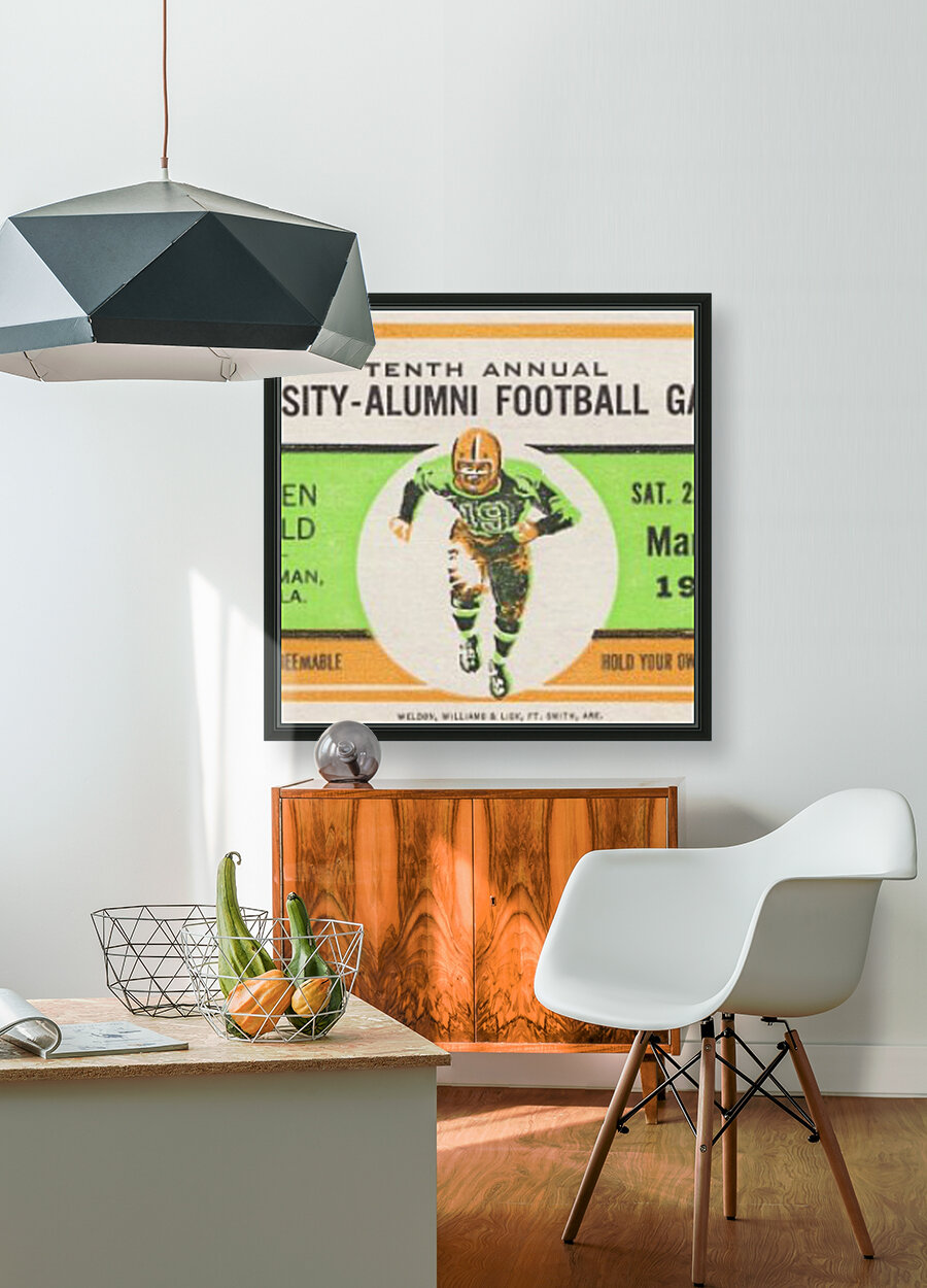1958 Oklahoma Sooners Varsity Alumni Game  Art