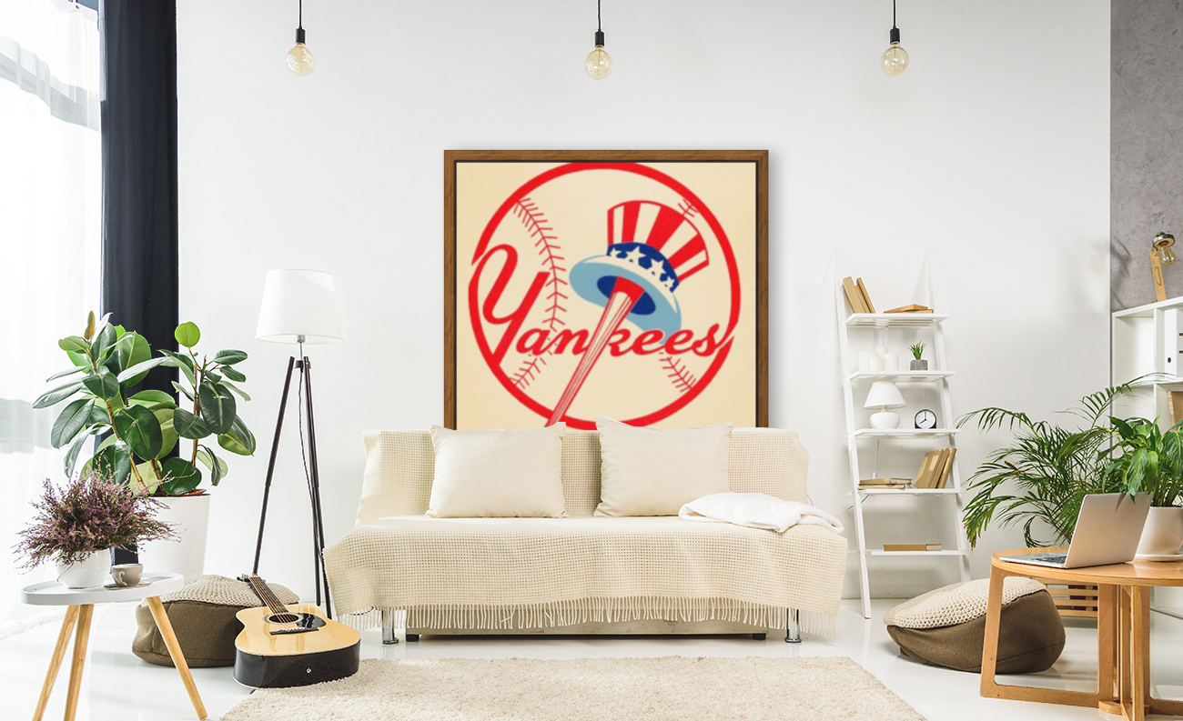 1950s New York Yankees with Floating Frame