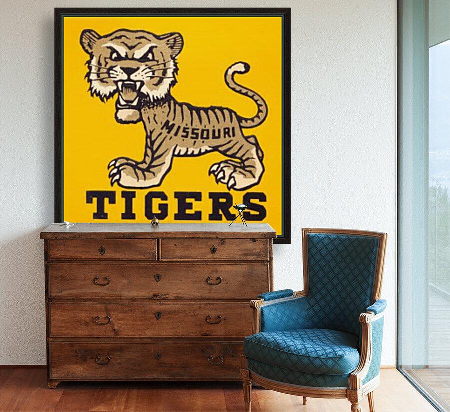 1950s Missouri Tigers Art Print  Art