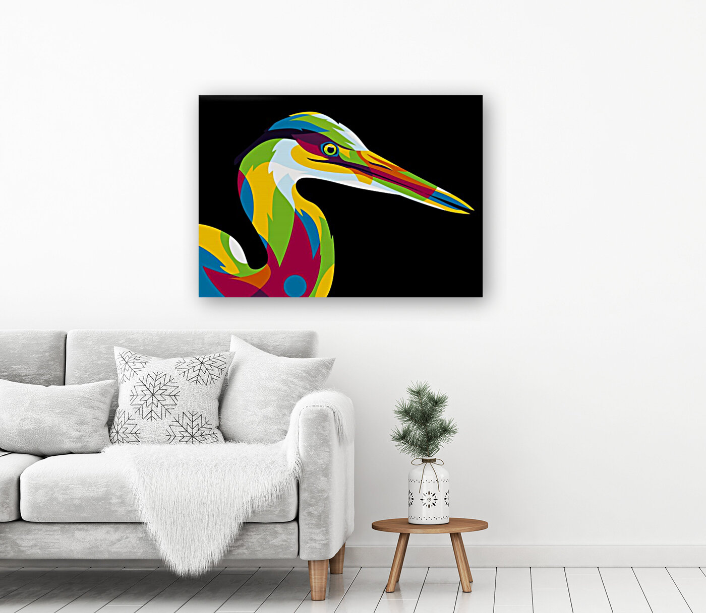 Great Heron in Pop Art Style  Art