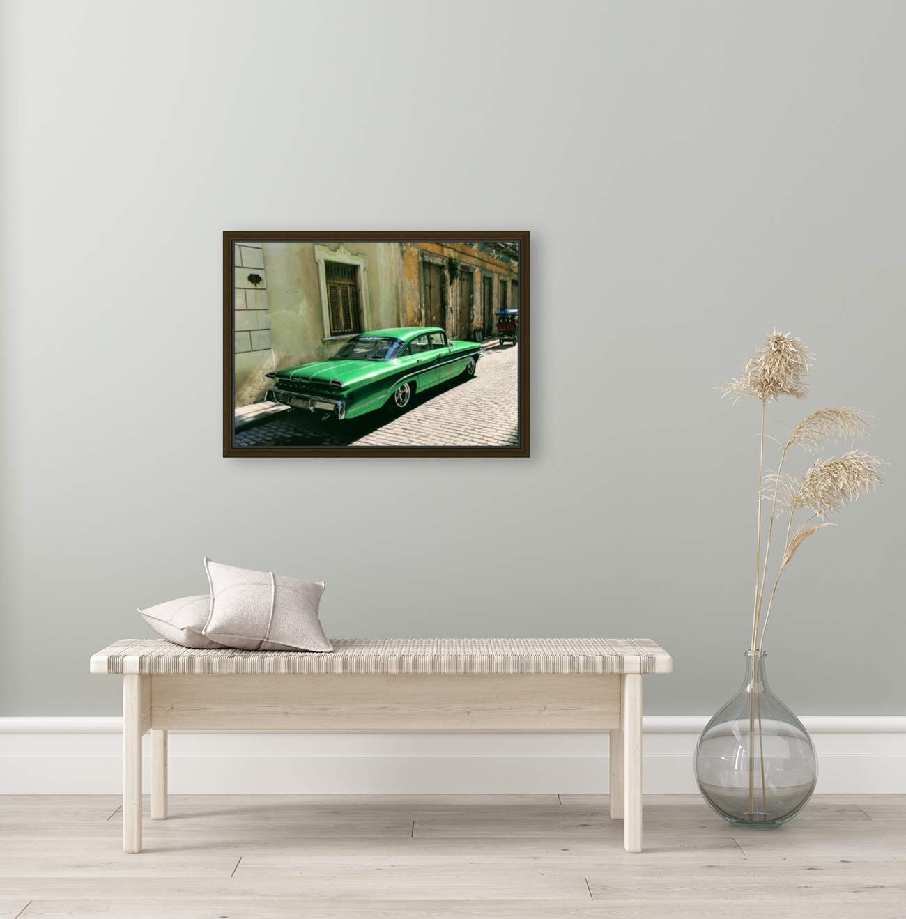 Cuba Past and Present with Floating Frame