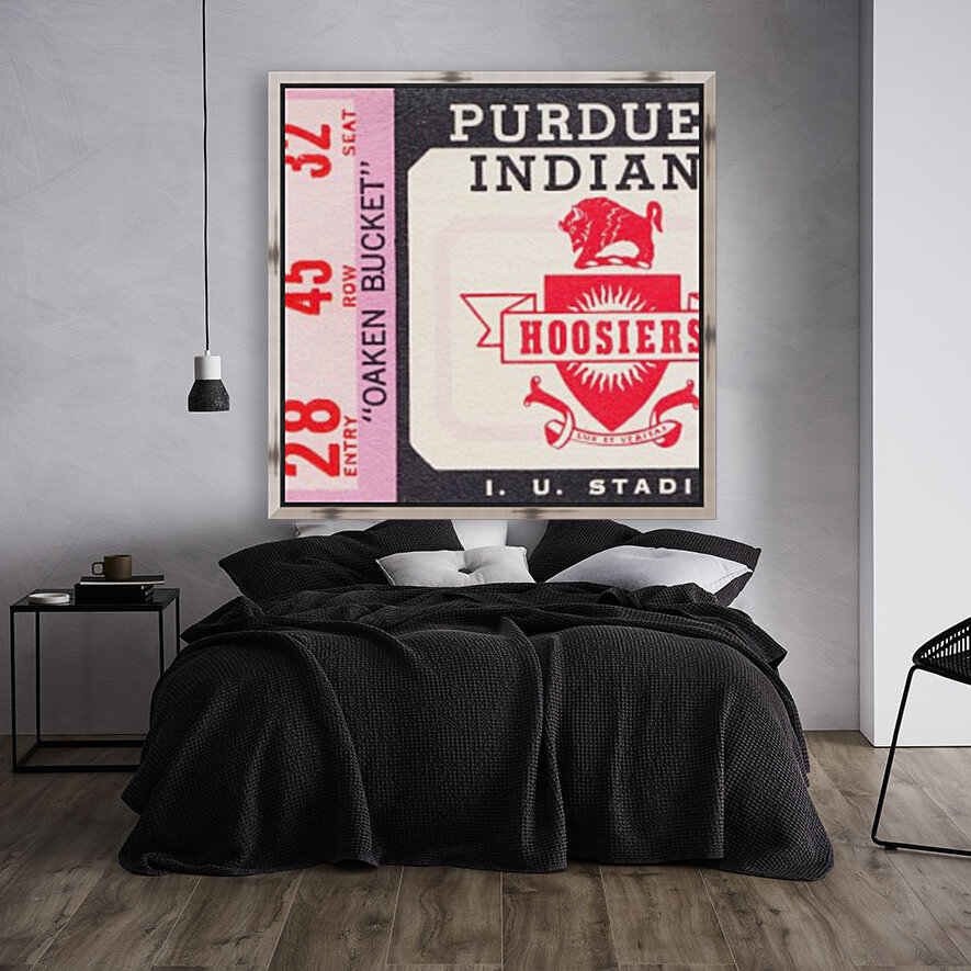 Vintage Indiana Hoosiers Football Ticket Stub  Art