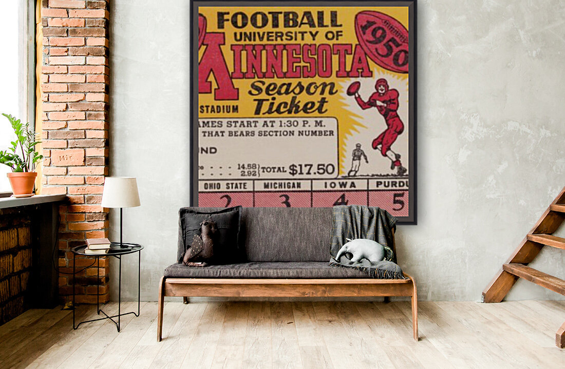 1950 University of Minnesota Season Ticket  Art