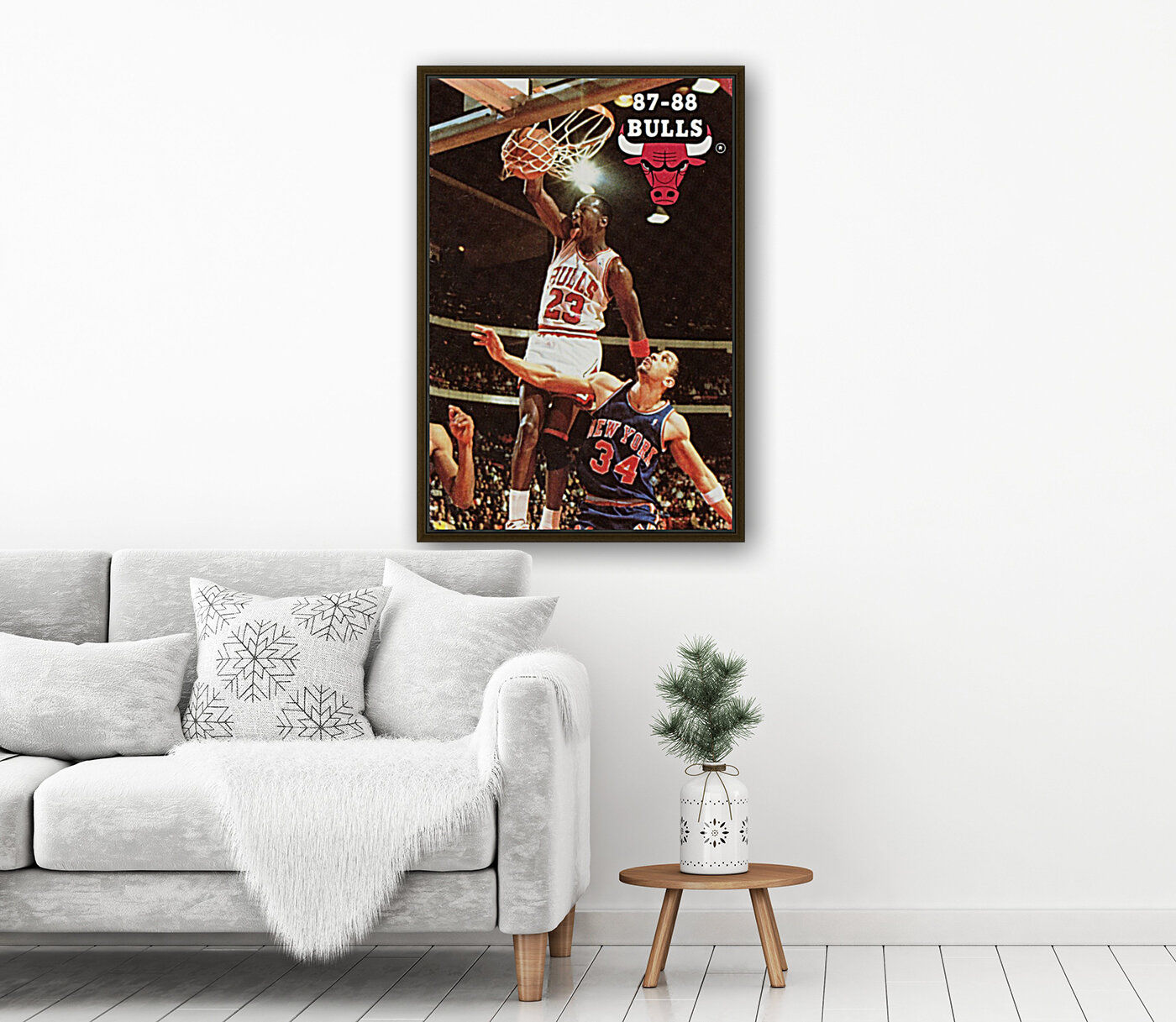 1987 Chicago Bulls Michael Jordan Art  Art