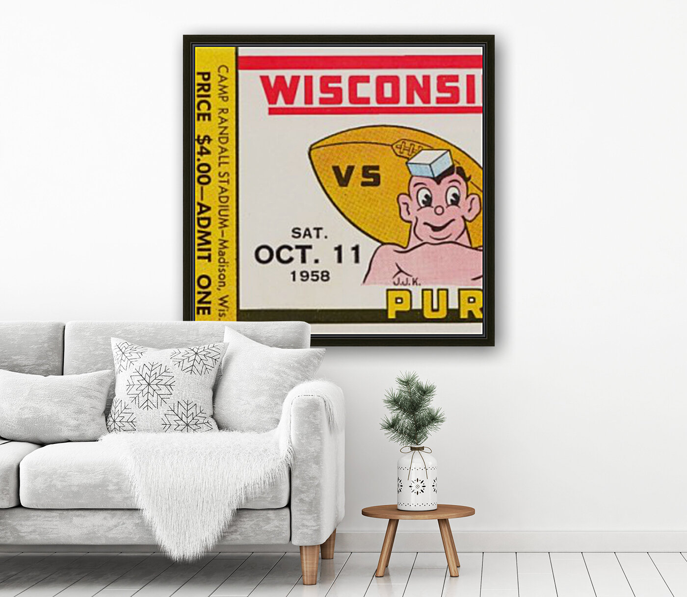1958 Wisconsin vs. Purdue  Art