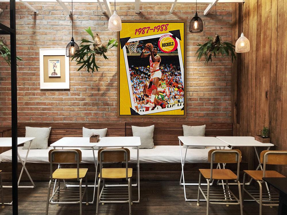 1987 Hakeem Olajuwon Houston Rockets  Art
