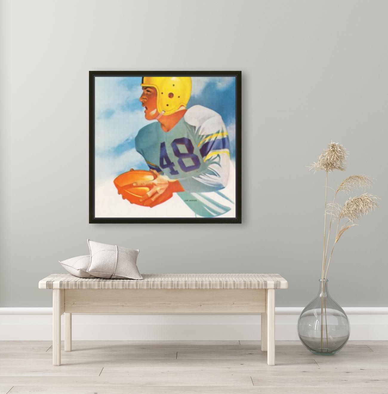 1948 Lon Keller Football Art  Art