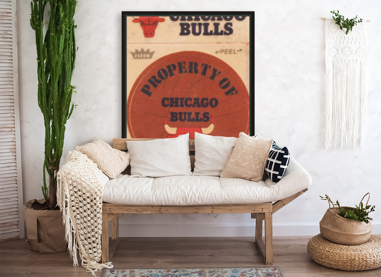 1974 Chicago Bulls Fleer Decal Art  Art