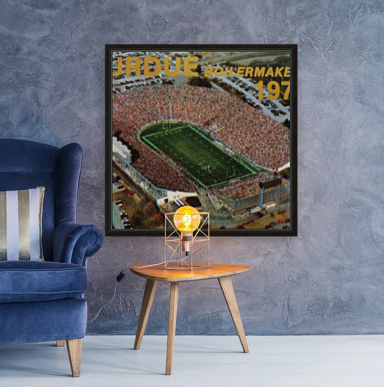 1979 Purdue Ross-Ade Stadium Art  Art