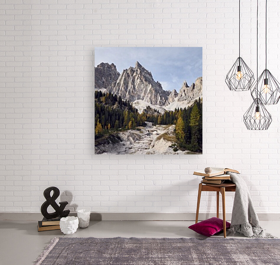 Mountain peaks of the italian dolomites Cortina dAmpezzo Italy Europe with Floating Frame
