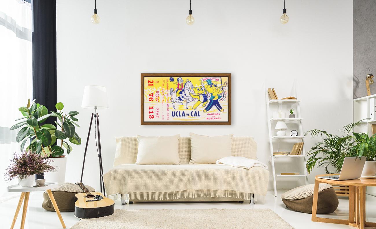 1957 UCLA vs. California   Art