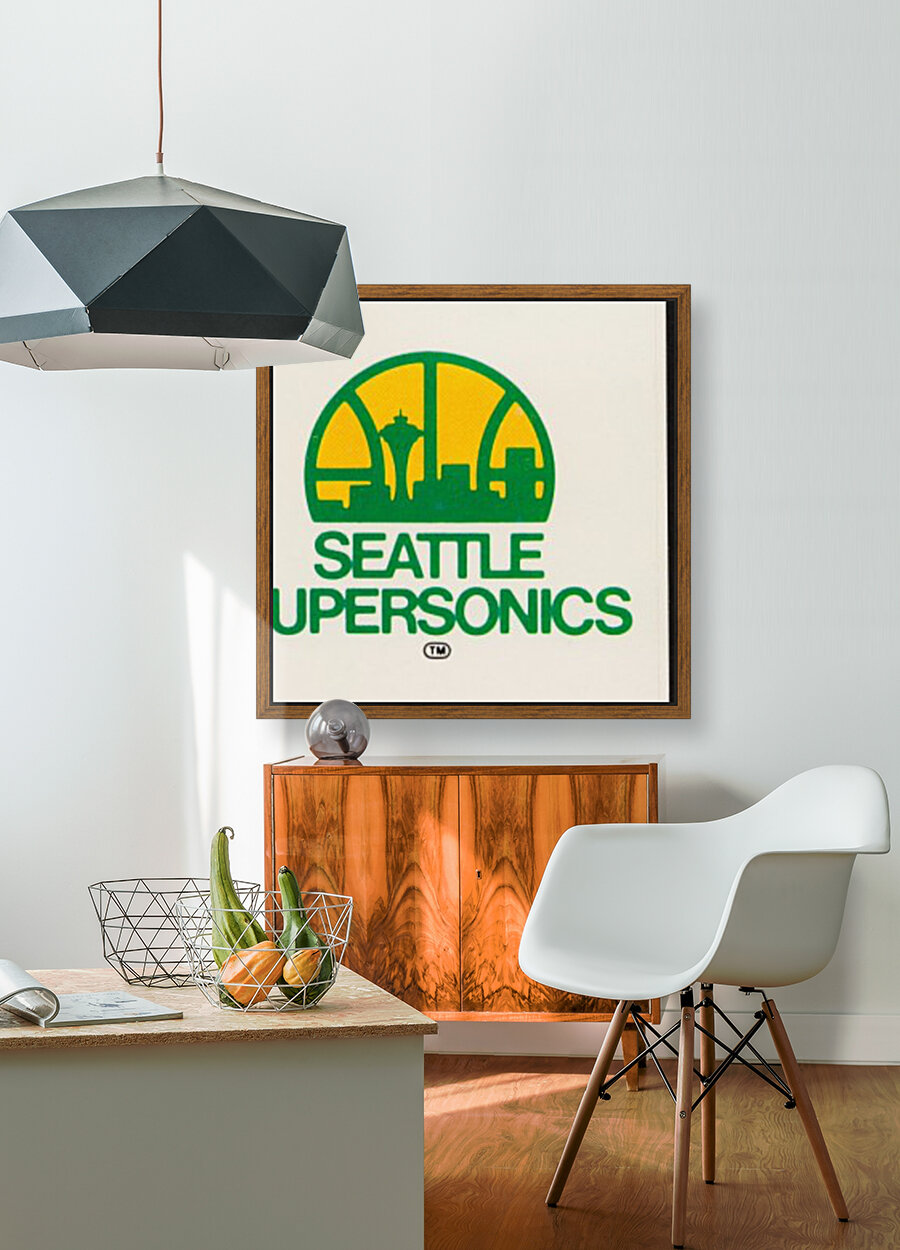 1979 Seattle Supersonics Fleer Decal with Floating Frame