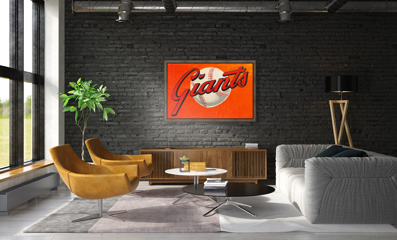 1960s San Francisco Giants Art with Floating Frame