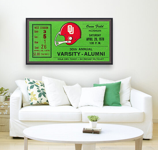 1978 Oklahoma Sooners Varsity Alumni Game  Art