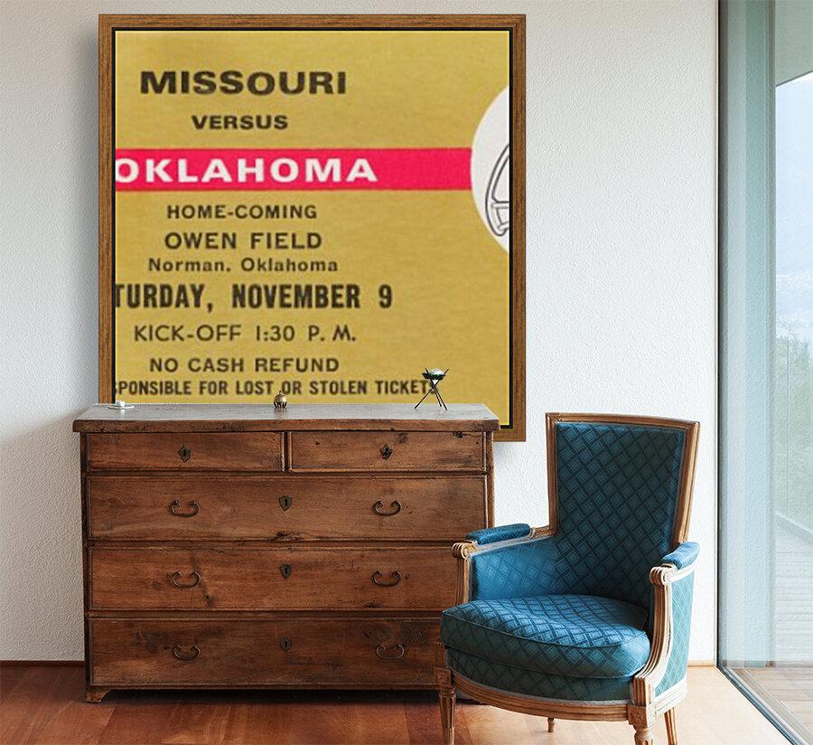 1974 Oklahoma vs. Missouri  Art