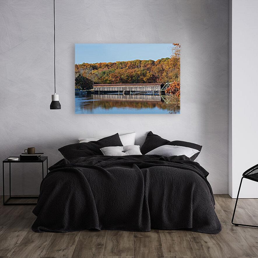 Harpersfield Ohio covered bridge autumn 2020  Art