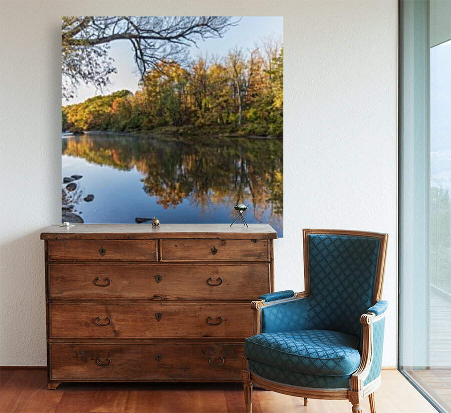Autumn morning on the Grand River at Mechanicsville Ohio  Art