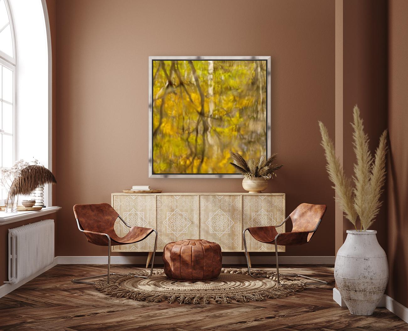 Autumnal swirls reflections  Art