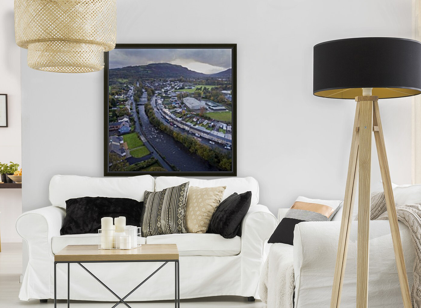 The river Tawe in Ystradgynlais  Art
