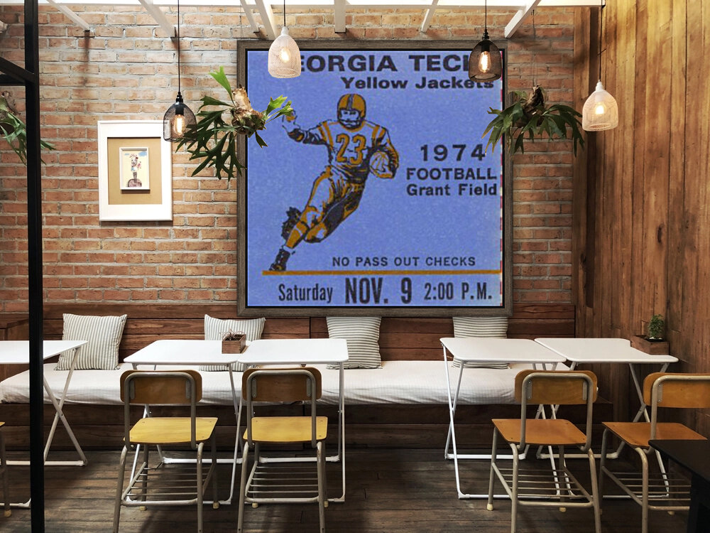 1974 georgia tech crop remix with Floating Frame