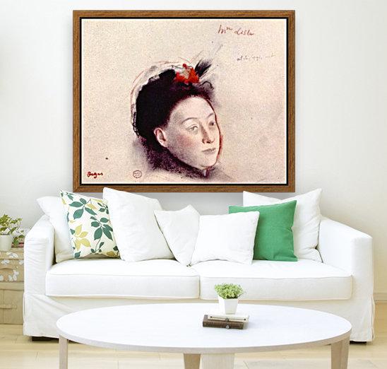 Portrait of Madame Lisle by Degas  Art