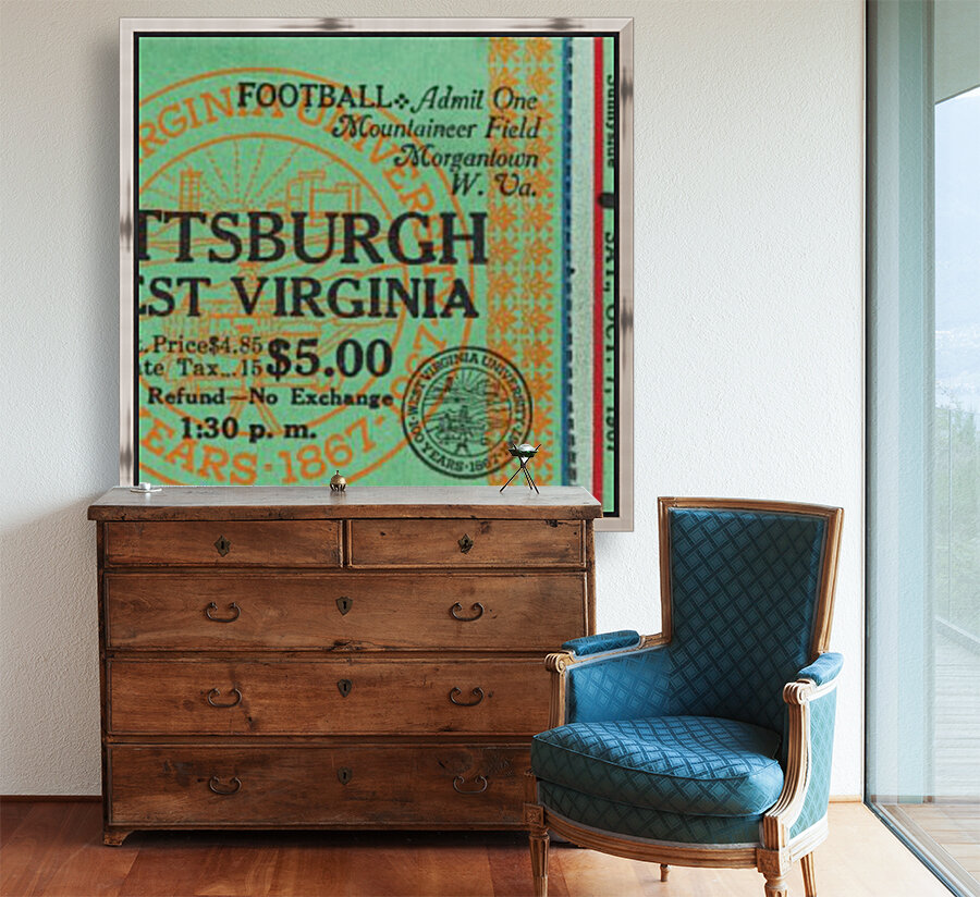 1967 West Virginia vs. Pitt  Art