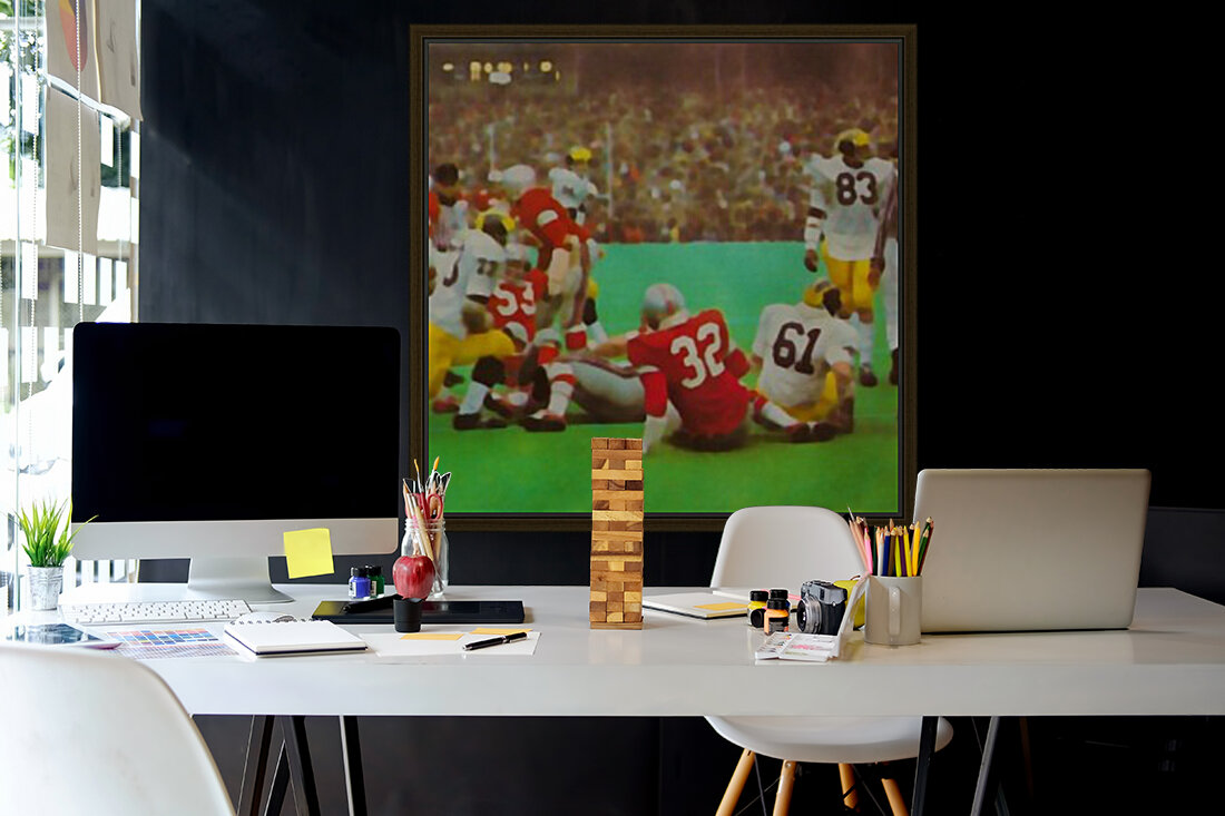 Ohio State vs. Michigan Football Art with Floating Frame
