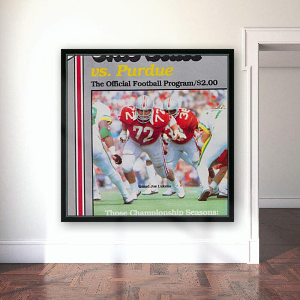 1982 Ohio State vs. Purdue Program Cover Art  Art