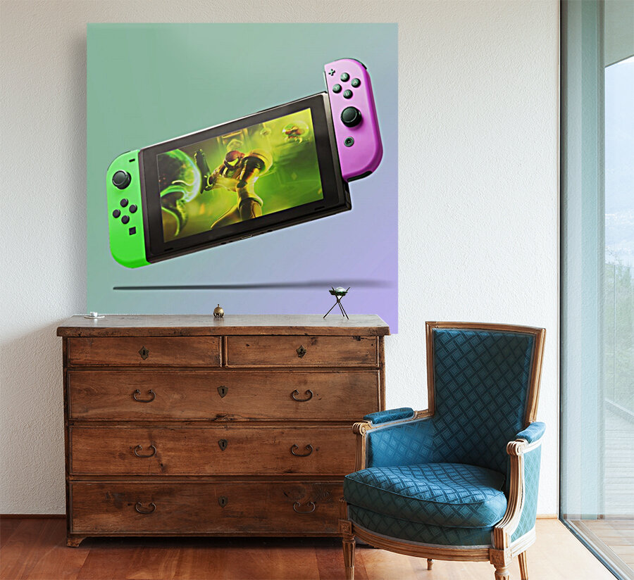 Nintendo Switch Green Pink  Art