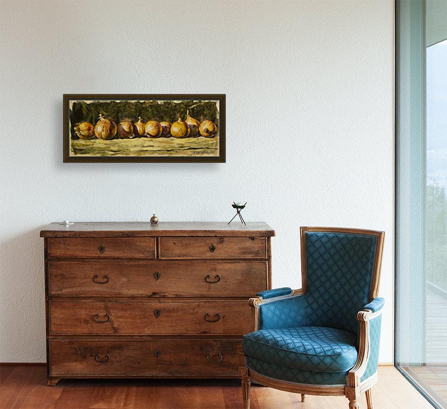 Kitchen Still Life with golden bow  Art