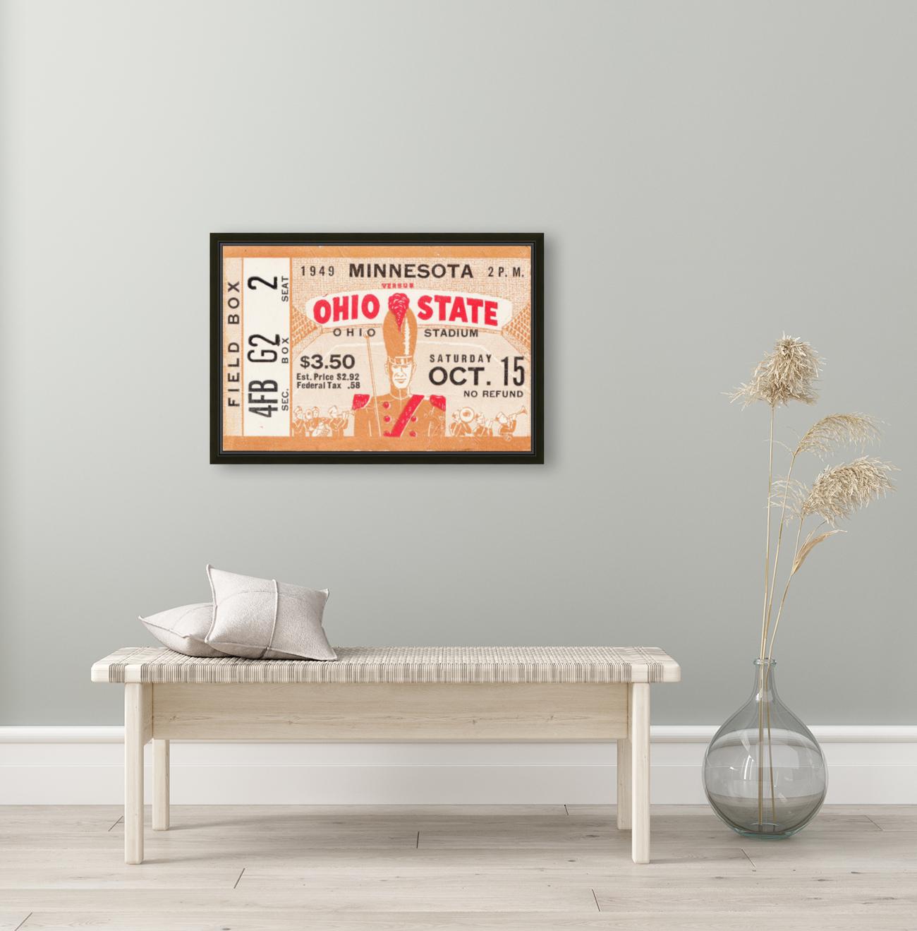 1949 Ohio State vs. Minnesota  Art