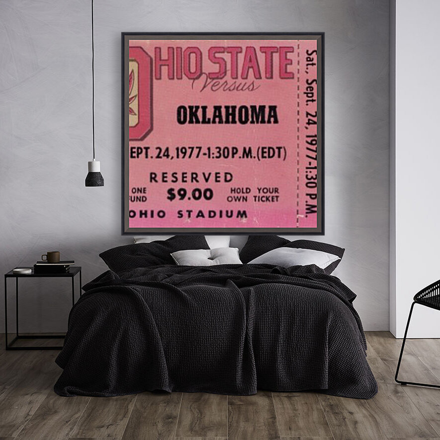 1977 Oklahoma vs. Ohio State with Floating Frame
