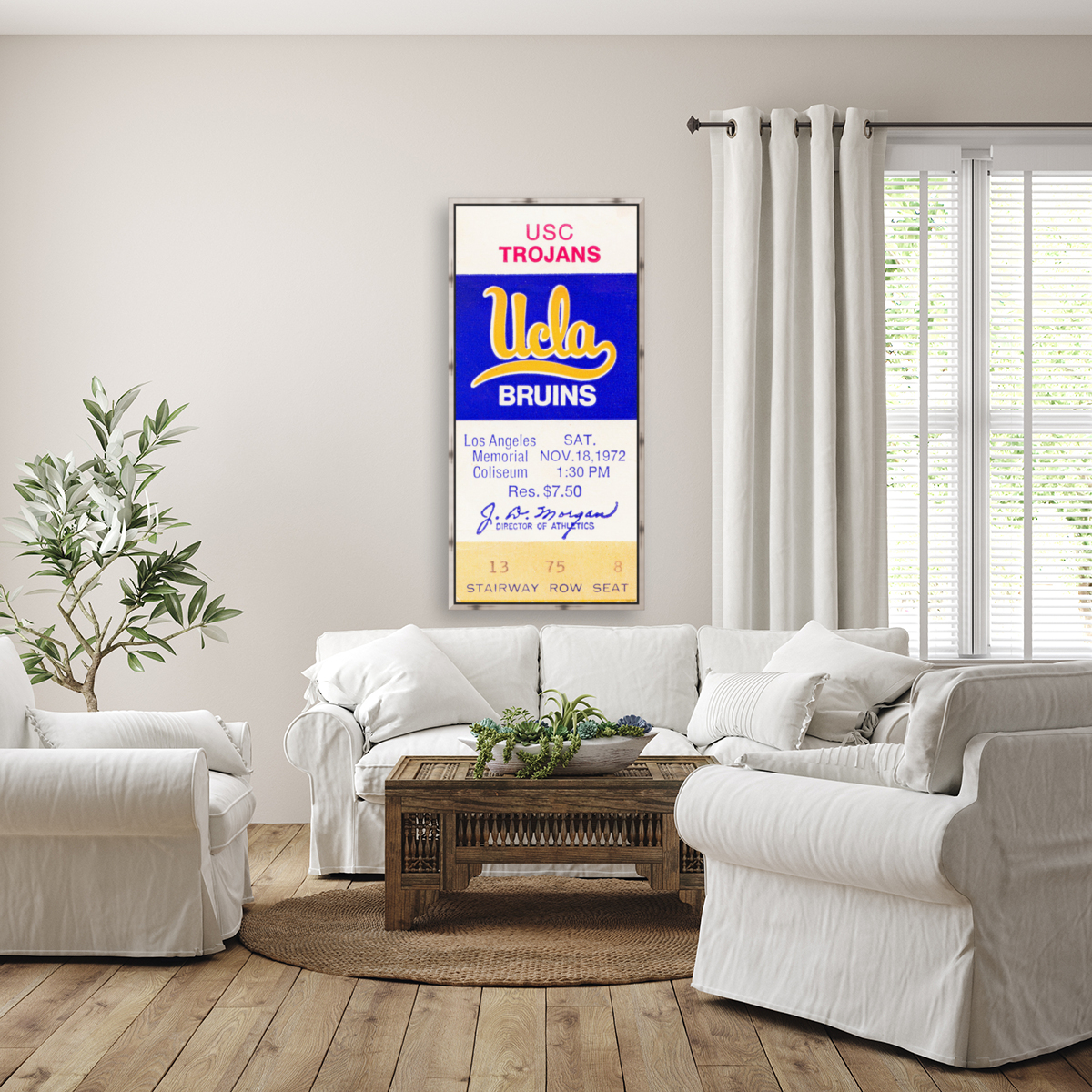 1972 USC vs. UCLA  Art