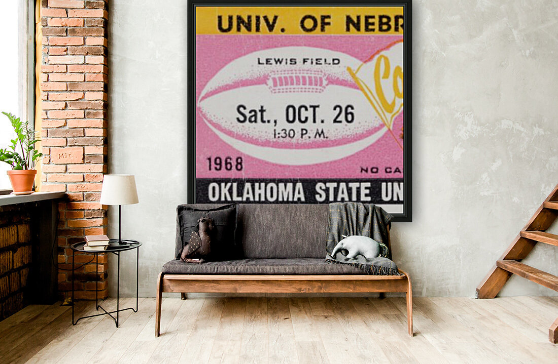 1968 Nebraska vs. Oklahoma State  Art