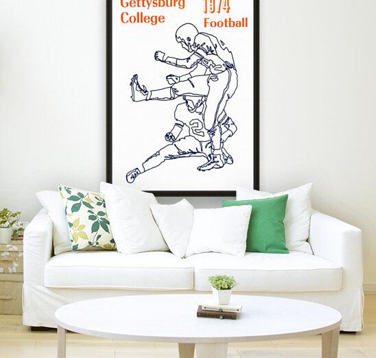 1974 Gettysburg College Football Art  Art