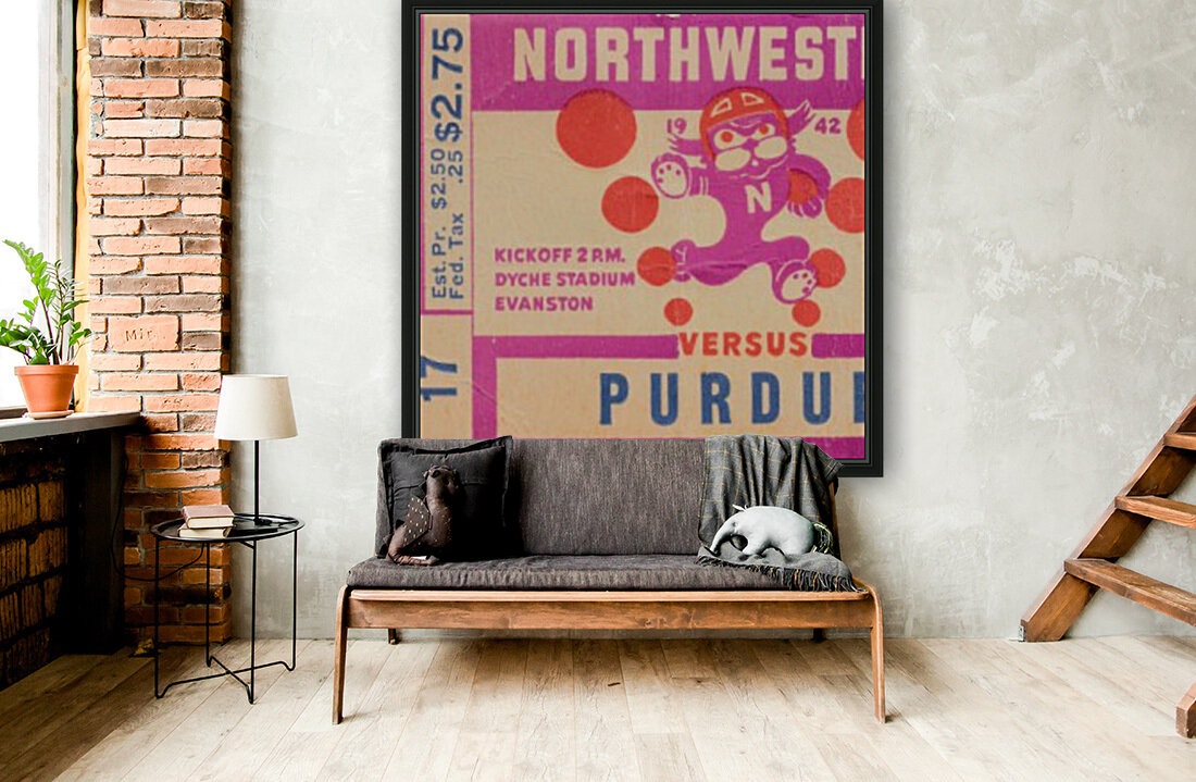 1942 Northwestern vs. Purdue  Art