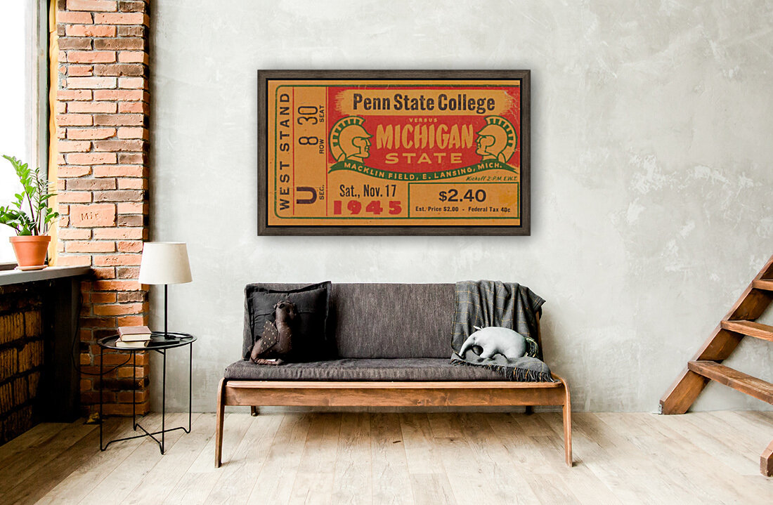 1945 Michigan State vs. Penn State  Art