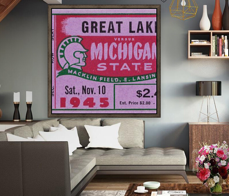 1945 Great Lakes vs. Michigan State with Floating Frame