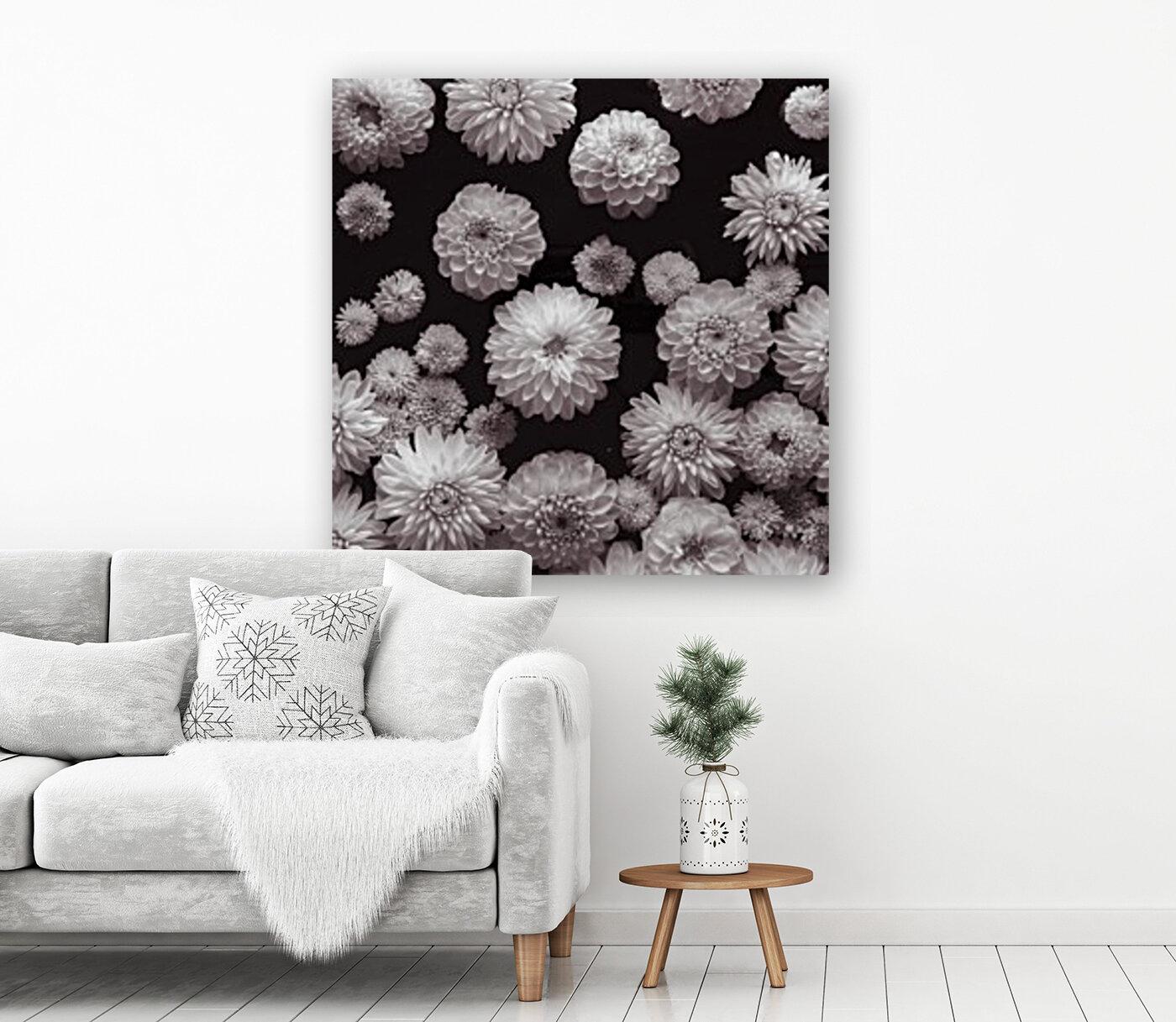 Dahlia Flowers, Full Frame  Art