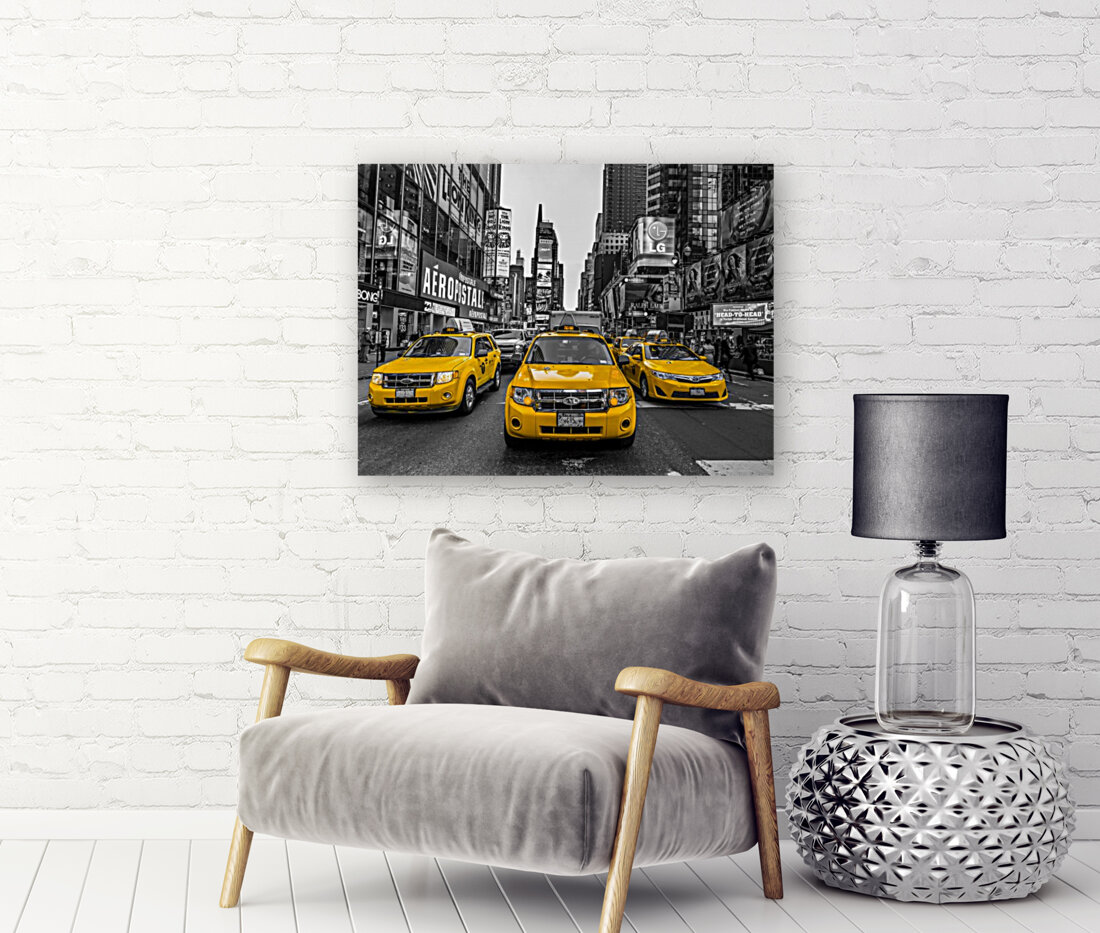 Taxi on broadway, New York  Art