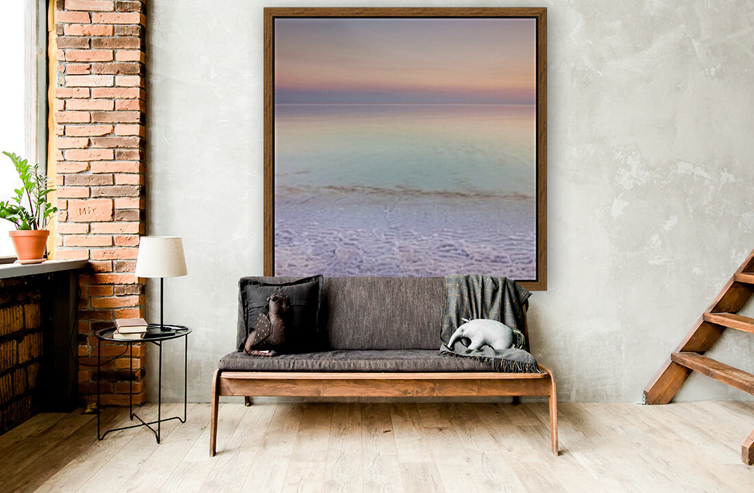 Dead sea shore at dusk, Israel with Floating Frame