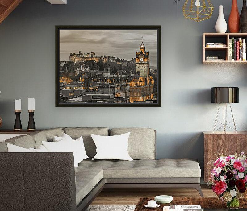 Edinburgh Castle and The Balmoral Hotel, Scotland  Art