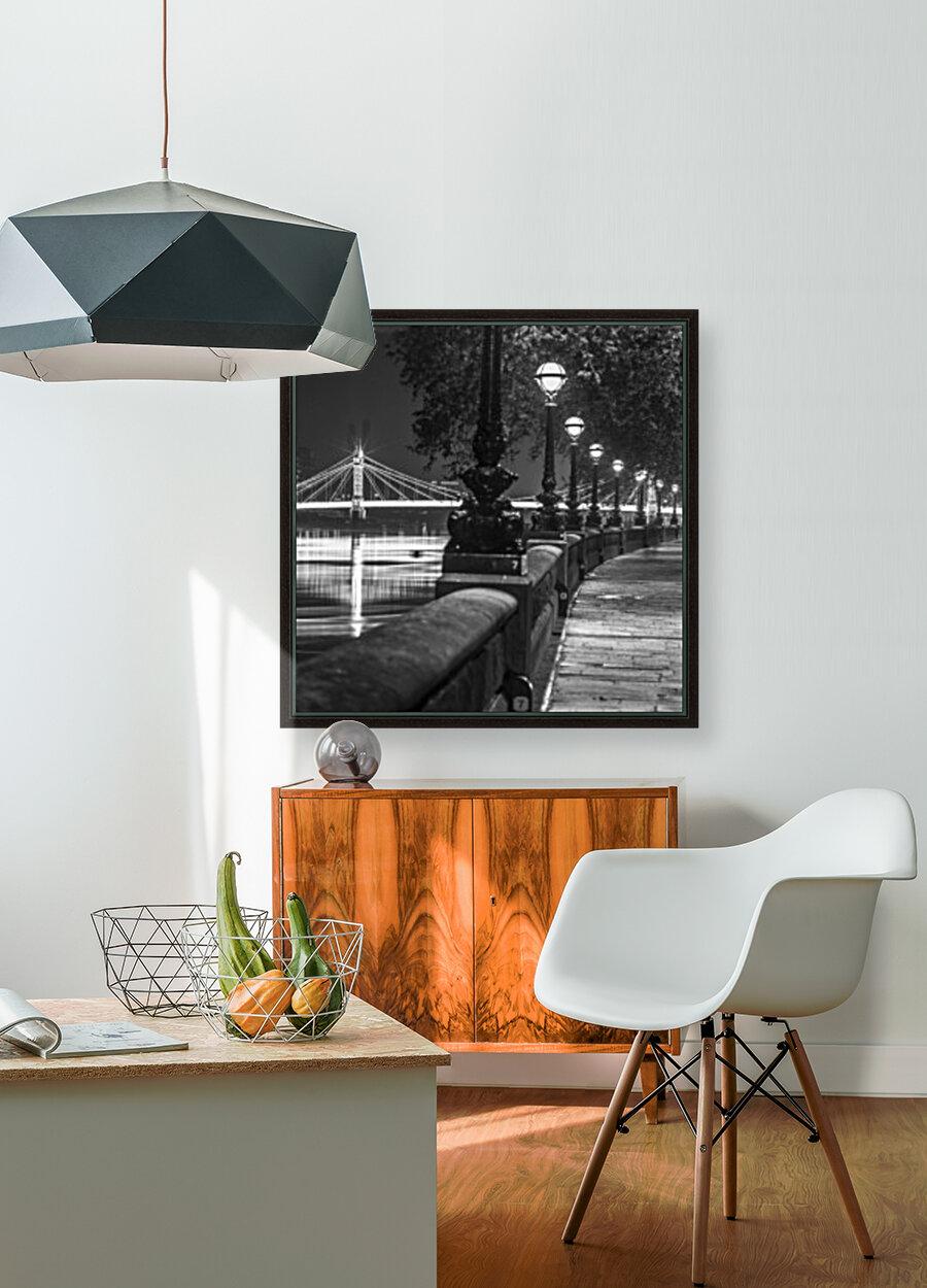 London Riverside Promenade with Albert Bridge  Art