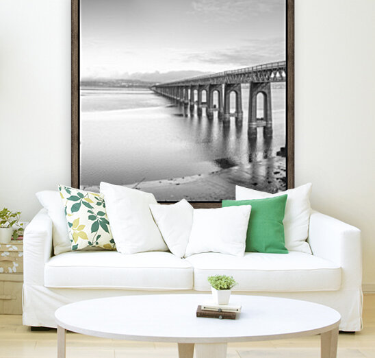 Tay Rail Bridge, Dundee, Scotland with Floating Frame