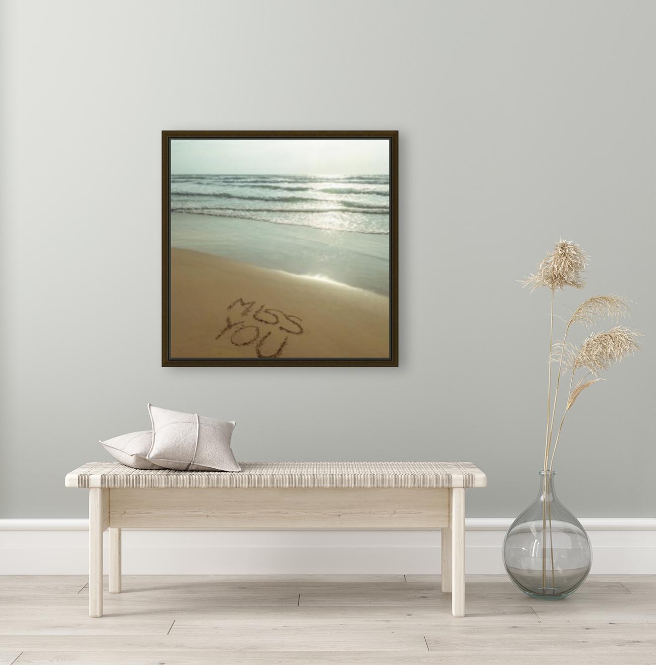 Miss You written on the beach  Art