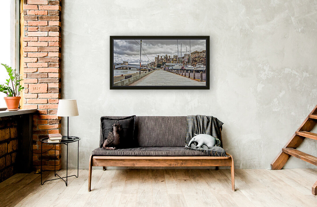Conwy harbour, North Wales coast with Floating Frame