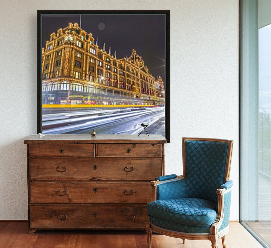 Harrods, London with Floating Frame
