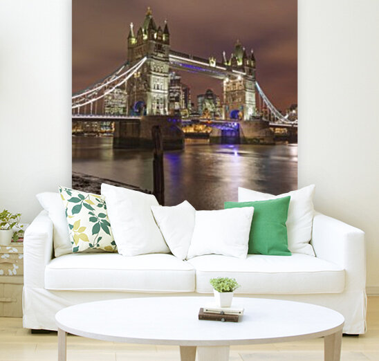 Tower bridge at night, London with Floating Frame