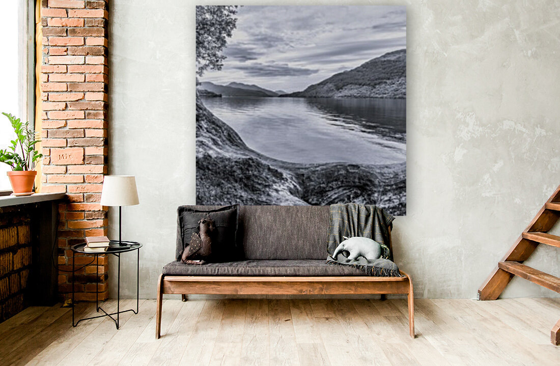Scottish Loch with Floating Frame