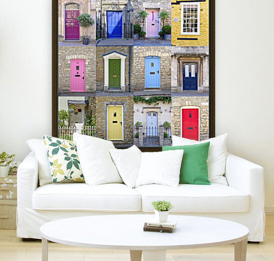 Collage of old doors, Cotswold, UK  Art